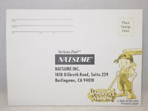 Harvest Moon (Super Nintendo | SNES) Rare Authentic Registration Card ONLY