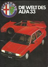 Mappe mit Bildern zur Einführung des Alfa 33 ca.1983 Stradale Tipo GTA P2 P3 158