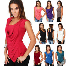 Polyester Cowl Neck Semi Fitted Tops & Shirts for Women
