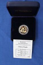 1994 China Bi-metálico oro y plata prueba 10 yuanes Panda moneda en caso (W9/3)