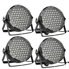 4X 100W LED PAR STAGE LIGHT 54 LEDS RGB DMX DJ STAGELAMPE B�œHNENBELEUCHTUNG