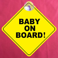 Vitre de Voiture Ventouse Autocollant Bébé à Bord Mise en Garde Panneau Sécu