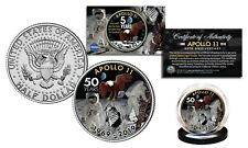 APOLLO 11 50th Anniv Man on Moon Space NASA Official Kennedy Half Dollar US Coin