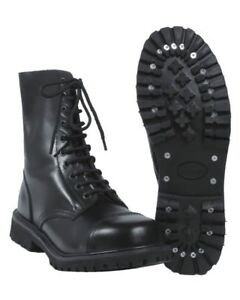 Invader 10 Loch Boots Gothic Stiefel Leatherboots Lederstiefel