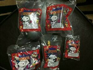 Wendy's - Snoopy 2000 - Set of 5 Toys In Package
