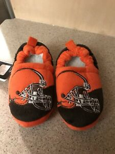 Cleveland Browns NFL Boys Colorblock Slide Slippers Size Small (8/9) - NWT