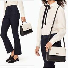 Kate Spade Paterson Court Brynlee Purse Bag Black Pebble Cream Crossbody Medium