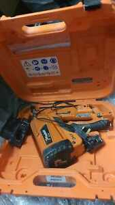 Paslode Impulse IM350+ plus nail gun x1 lithium battery with charger and case