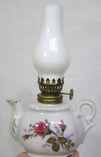 Vintage Miniature Kerosene Lamp Figural Teapot + Chimney Lipper & Mann Japan