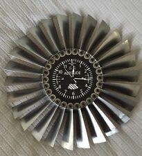 Titanium Turbine Jet Engine Disk Altimeter Clock F-5/T-38 Memorabilia pilot gift