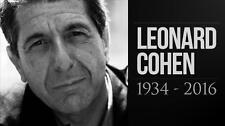 """LEONARD COHEN MEMORIAL BLACK & WHITE FRIDGE MAGNET 5"""" X 3.5"""""""