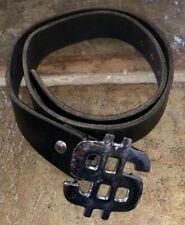 Cinturón para hombre Talla S/M dólar Cinturón Cinturón Negro