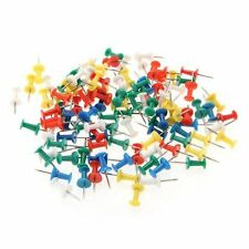 100pcs Coloured Push Pin Drawing Map Pins Notice Office School LW