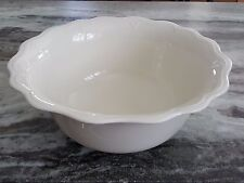 "LENOX CASUAL ELEGANCE 10 1/2"" LARGE IVORY ROUND VEGETABLE SERVING BOWL"