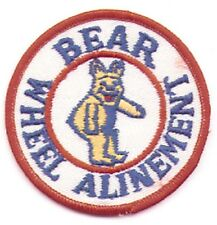 Vintage 70s BEAR WHEEL ALINEMENT  Gearhead Hot Rod Rockabilly Collector Patch
