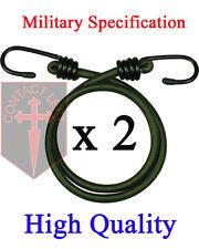 """NEW 2 x 12 """" BUNGEES VERT MILITAIRE spécification cordon élastique 30cm"""