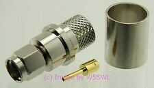 Reverse Polarity RP SMA Male Connector 9913 & LMR400  2 PACK - by W5SWL ®
