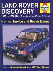 Haynes Land Rover Discovery Petrol & Diesel (89 - 98) G to S Reg - Car Manua