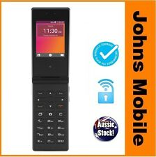 NEWEST MODEL IN STOCK! Telstra ZTE T21 Black Blue Tick 4GX Flip Phone Unlocked!