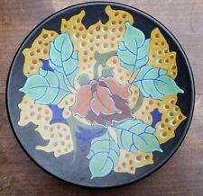 RARE REGINA LOTUS GOUDA HOLLAND DUTCH POTTERY DISH PLATE 1925 PLATEEL ART DECO