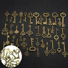 40pc Antique Vintage Old Look Royal Skeleton Pendant Keys Jewelry Craft Home Diy