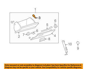 Chevrolet GM OEM 12-15 Camaro-Glove Compartment Box Bumper 25702652