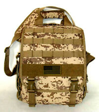 Laptop Backpack Rucksack Tactical Shoulder Messenger Bag TAN ACU Molle Design