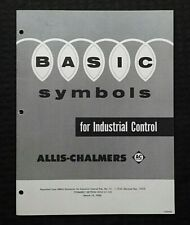 """1956 ALLIS-CHALMERS """"Basic Symbols for Industrial Control"""" Electrical Engineerin"""