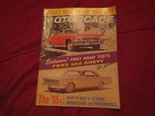 NOV-DEC 1964 MOTORCADE 1965 FORD GALAXIE LTD XL VS CHEVROLET VINTAGE MAGAZINE