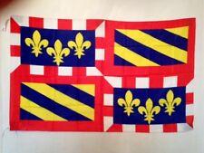 AZ FLAG Drapeau Province de Bourgogne 150x90cm Drapeau Bourguignon 90 x 150 cm Fourreau pour hampe