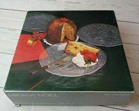 Mikasa Noel Crystal Dessert Salad Plates Set of 4 RC141/004 Hoya, Japan