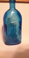 Vintage WHEATON FRANKS SAFE KIDNEY & LIVER CURE  Blue Bottle ROCHESTER NY