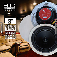 CT Sounds Bio 8 Inch In Ceiling 2 Way Stereo Sound Home Audio White Speaker 1 Pc