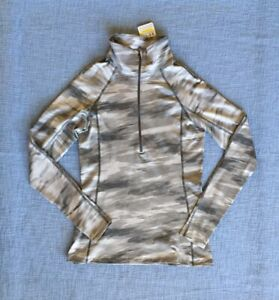 NWT Under Armour Gray Camouflage Camo Fitted 1/4 Zip Top Pullover Shirt Medium M