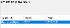 Mercedes C230 2003 2004 2005 Air Filter MANN C 14 114