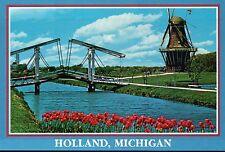 Holland Michigan Tulip Festival, Draw Bridge Windmill Island, Gardens - Postcard