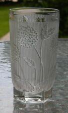 Vintage Rare Jeannette Glass Herringbone and Chrysanthemum Glass Tumbler c1920s