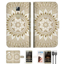 White AZTEC TRIBAL Wallet TPU Case Cover For HUAWEI G8 -- A006