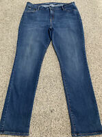 Women's OLD NAVY CURVY SLIM JEANS Size 16 Long Actual 38X33 Rise 11.5