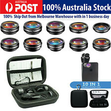 10 in 1 Wide Angle Macro Fisheye Lens Camera Kits Mobile Phone Fish Eye Telescop