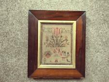 More details for 1853 victorian sampler by susanna eccles rosewood frame flowers and birds