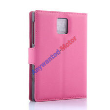 """Leather Card Slot Stand Cover Case Wallet for 4.5"""" BlackBerry Passport Q30 Phone"""