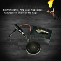 9V Electronic Fire Ball Launcher Magic Trick Props Accessories Stage Illusi G8O7