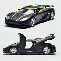 Koenigsegg Agera R 1/32 Metall Die Cast Modellauto Schwarz Spielzeug Sammlung