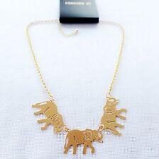 "15"" New Forever21 3 Elephant Pendant Necklace Xmas Gift FS Fashion Women Jewelry"