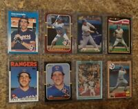 (8) Pete Incaviglia 1986 1987 Fleer Topps Traded Donruss Rookie card lot RC