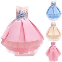 Princess Floral Baby Girl Bridesmaid Pageant Gown Birthday Party Wedding Dress