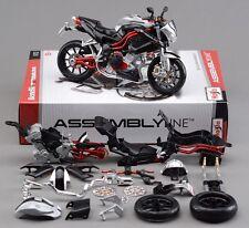 Maisto 1:12 Benelli TNT Titanium Assembly kit Motorcycle Motocross Model Toy