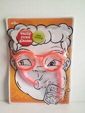20 X Gafas de paja Wacky Diversión beber tonto Niños Bolsa Fiesta Stag Gallina Nuevo