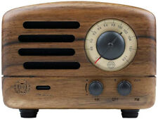 Muzen OTR Vintage Handcrafted Portable FM Radio Bluetooth Speaker